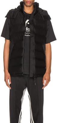 Yohji Yamamoto Y 3 Y-3 Seamless Down Hooded Vest in Black   FWRD