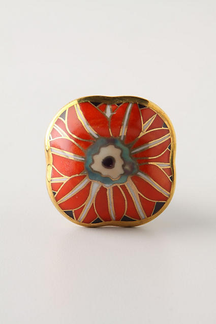 Anthropologie Brilliant Blossom Knob