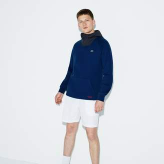 Lacoste Men's SPORT Contrast Hood Fleece Tennis Sweatshirt