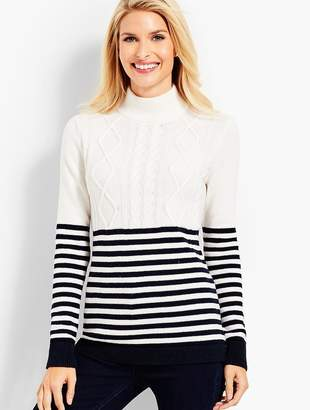 Talbots Fisherman Stripe Sweater