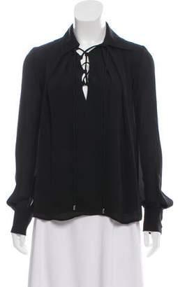 Plein Sud Jeans Silk Long Sleeve Top