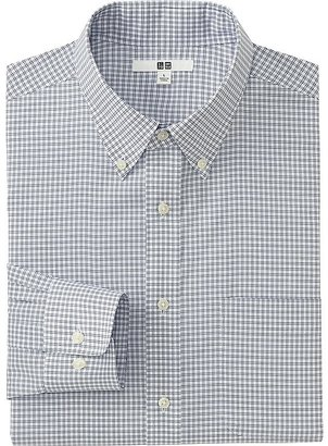 Men Easy Care Checked Long Sleeve Shirt $29.90 thestylecure.com