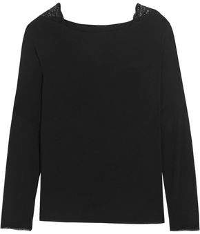 Hot Sale Calvin Klein Woman Stretch Cotton And Modal-blend Jersey Pajama Top Black Size XL Calvin Klein Wiki Cheap Price Outlet Factory Outlet Sale Cheapest Price Free Shipping Wiki HVHQy