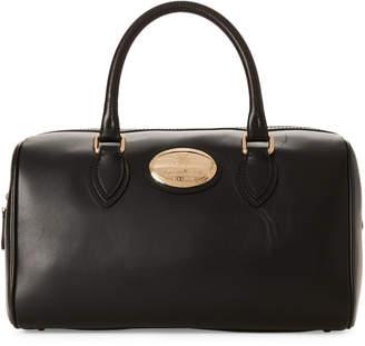 Roberto Cavalli Black Bauletto Leather Tote