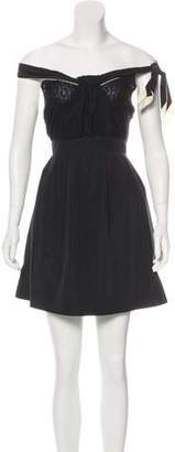See by Chloe Sleeveless Lace-Accented Dress