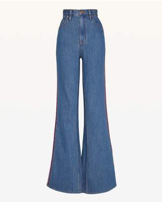 Juicy Couture Multicolor Embroidered Denim Flare Leg Jean