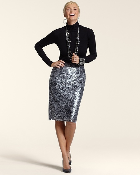 Chico's Sequin Stephanie Skirt