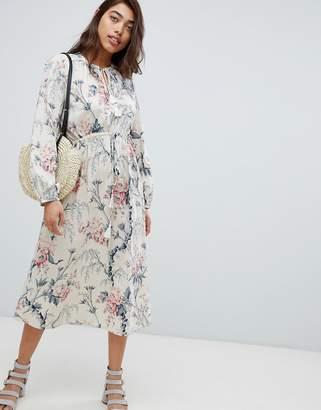 Warehouse Vintage Floral Print Midi Dress