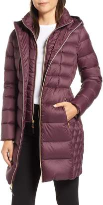 MICHAEL Michael Kors Packable Hooded Down Parka with Vest Inset