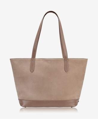 GiGi New York Teddie Tote In Stone French Nubuck Suede