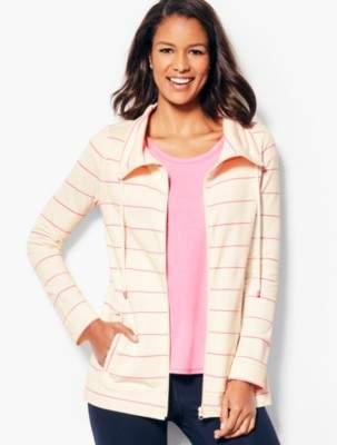 Talbots Cotton Pique Jacket - Stripe