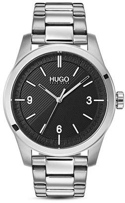 HUGO #CREATE Link Bracelet Black Watch, 40mm