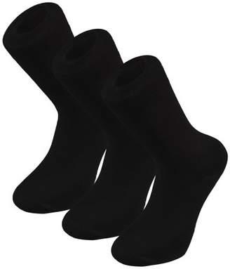 Shepherd's Ottomanson Men Cotton Bamboo Dress Sock 3-Pack, Black