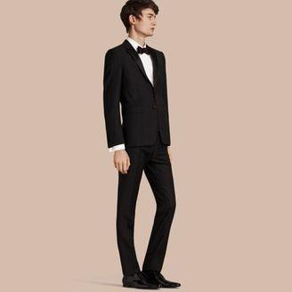 Burberry Slim Fit Wool Mohair Half-canvas Tuxedo $2,295 thestylecure.com