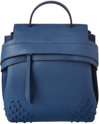Tod's Small Wave Leather Backpack