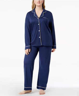 Cosabella Bella Plus Size Contrast-Trim Pajama Set AMORE9641P