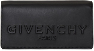 Givenchy Black Debossed Chain Wallet Bag $990 thestylecure.com