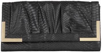 Black Snake Skin Clutch Bag