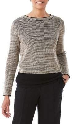 Olsen Bird's Eye Tied-Hem Sweater