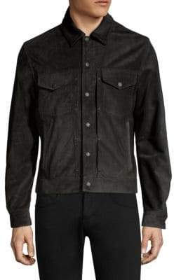 Rag & Bone Suede Trucker Jacket