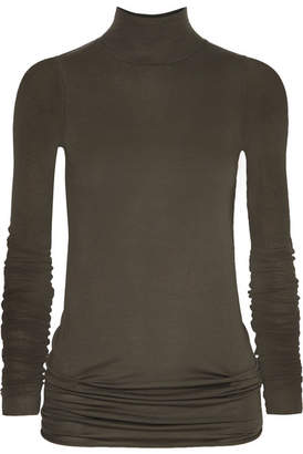 Rick Owens Stretch-jersey Turtleneck Top - Gray