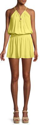 Ramy Brook Veronica Keyhole Halter Mini Dress