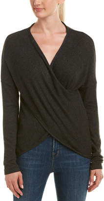 Three Dots Brushed Crossover Sweater