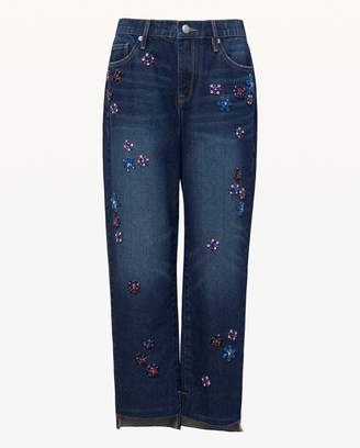 Juicy Couture Floral Embellished Boyfriend Jean