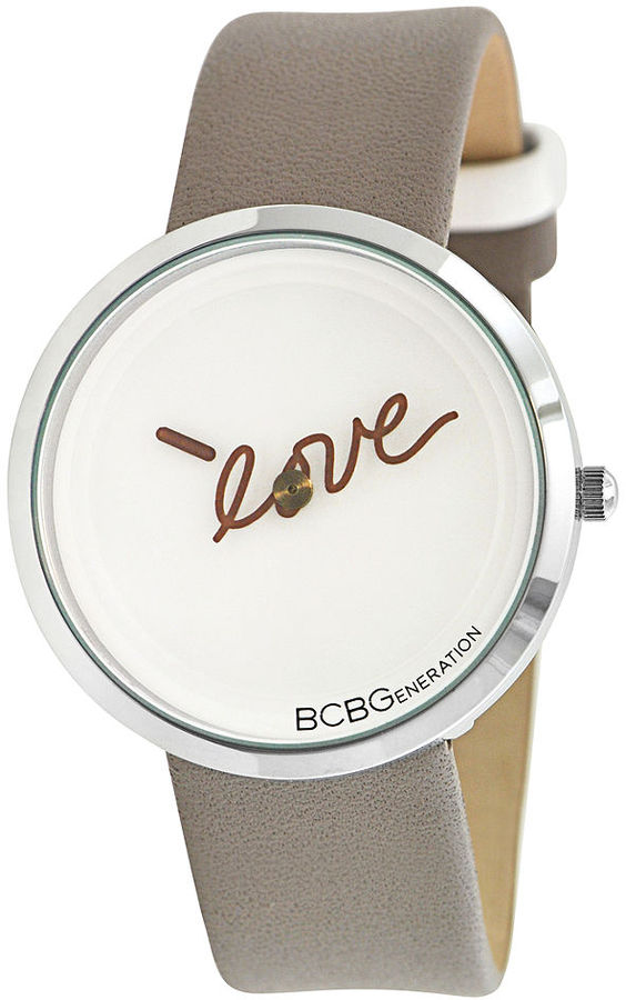 BCBGeneration Watch, Women's Taupe Leather Strap 36mm GL4182