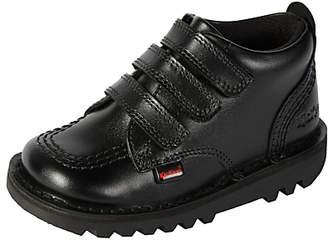 Kickers Children's Kick 3 Strap Shoes, Black