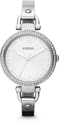Fossil Women's ES3225 Georgia Analog Display Analog Quartz Silver Watch