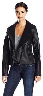 Madden Girl Women's Faux Shearling Moto Jacket $125 thestylecure.com