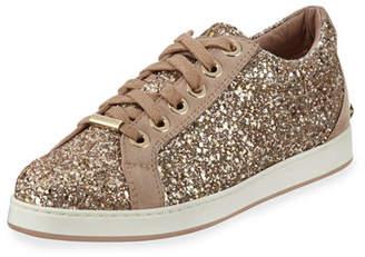 Jimmy Choo Cash Glitter Platform Low-Top Sneakers