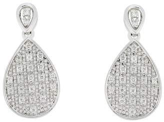 Bony Levy 18K White Gold Diamond Pave Pear Drop Earrings - 0.11 ctw