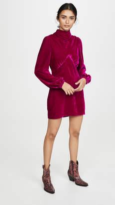 Divine Heritage Mock Neck Mini Dress