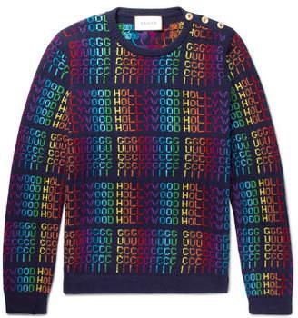Gucci Jacquard Wool Sweater