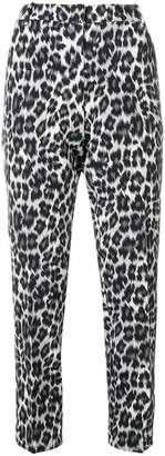 Pinko leopard print tailored trousers