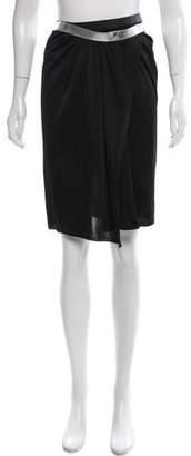 Paco Rabanne Asymmetrical Knee-Length Skirt w/ Tags