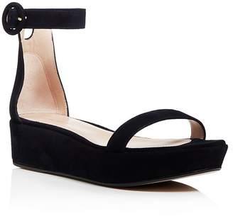 Stuart Weitzman Women's Capri Suede Platform Ankle Strap Sandals - 100% Exclusive