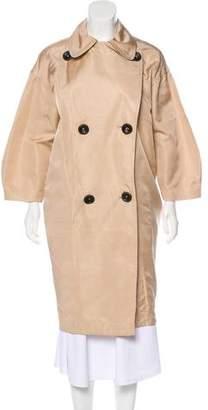 Giambattista Valli Silk Double-Breasted Coat