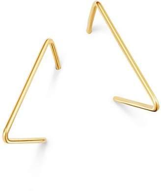 Moon & Meadow Triangle Hoop Earrings in 14K Yellow Gold - 100% Exclusive