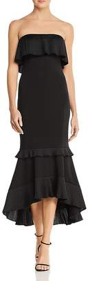 Aidan Mattox Strapless High/Low Dress