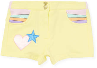 Little Marc Jacobs Girl's Embroidery Shorts