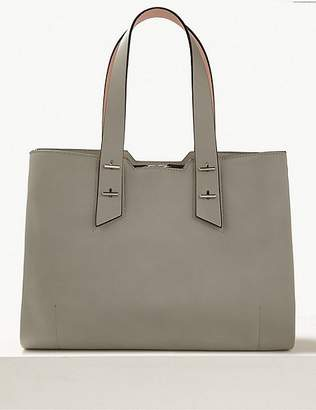 Marks and Spencer Faux Leather Tote Bag