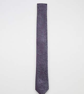 Noose & Monkey Rose Jacquard Blade Tie