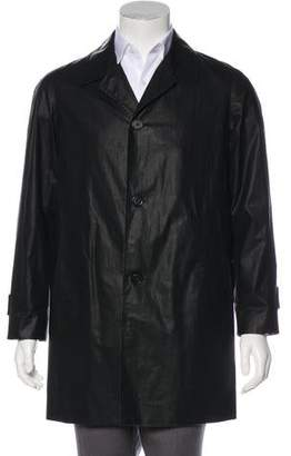 Marc Jacobs Waxed Button-Up Overcoat