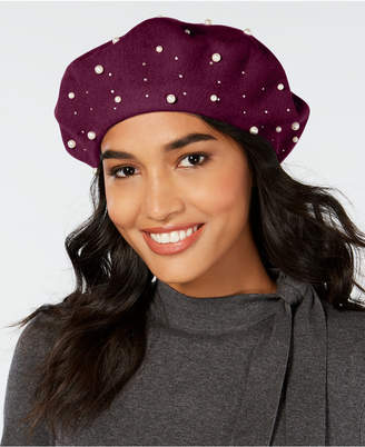 INC International Concepts I.n.c. Embellished Wool Beret