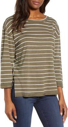 7add0b1a6fc8e5 Green And White Striped Shirt Women - ShopStyle