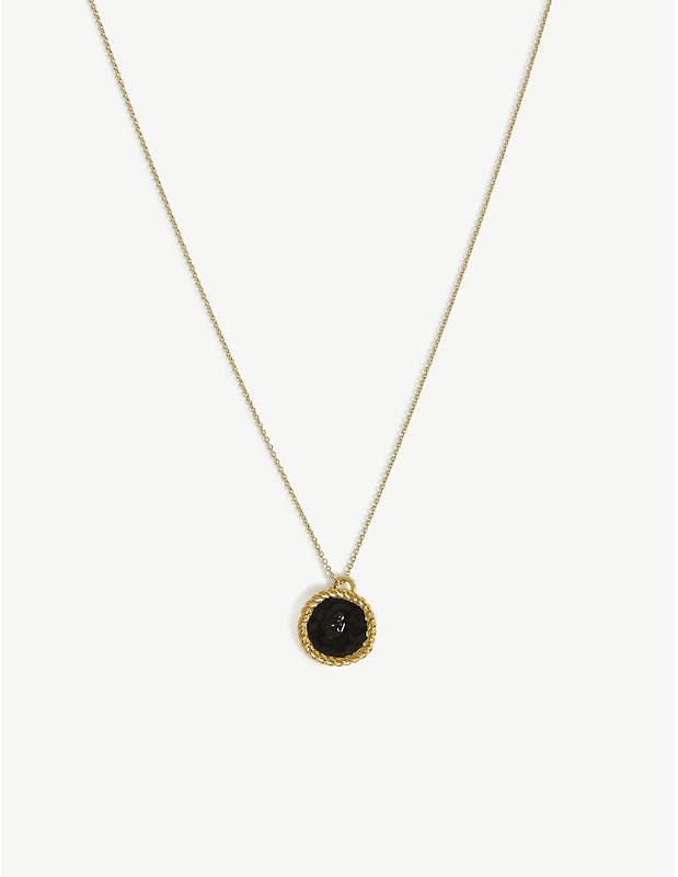 Number 4 Medallion necklace