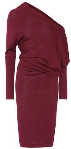 Tom Ford Cashmere silk off-shoulder dress